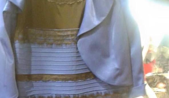 このドレスって青と黒ですよね? 人によって白と金に見える人がいるんだって!あなたは?