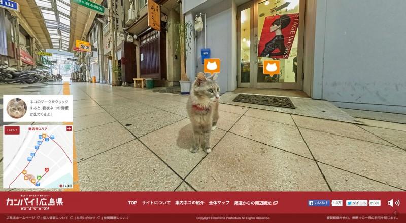 猫の視点で尾道を紹介する「広島-CAT-STREET-VIEW」01