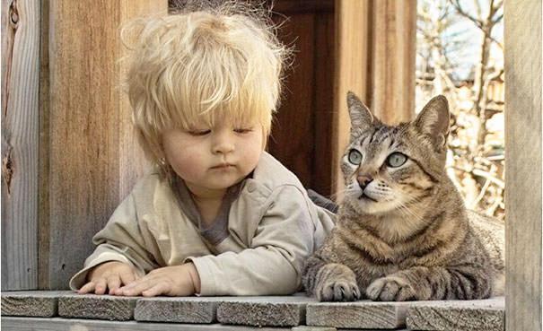 19-ほっこり20枚! 赤ちゃんとネコの仲良しな風景