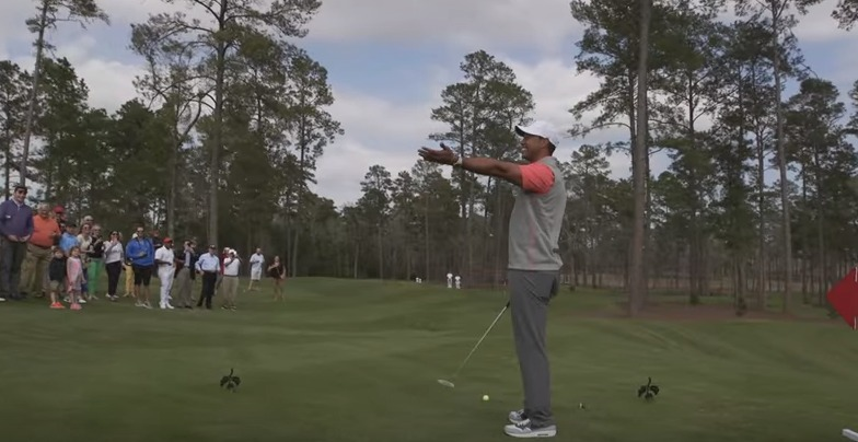 Bluejack National   Tiger Woods Witnesses the First Hole in One at The Playgrounds   YouTube