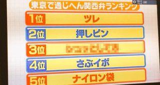 東京では通じない関西弁ランキングがコレ!個人的には3位が謎だった。