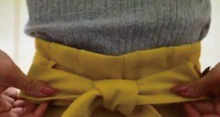 リボンの結び方って普通に蝶々結びすると綺麗に出来上がらない問題