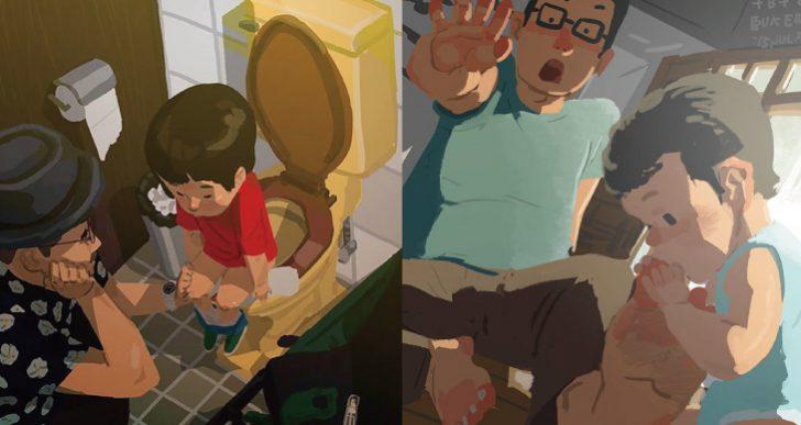 子育ての喜びや困難を描いたイラストが世界中で話題に 「これわかるわ~」