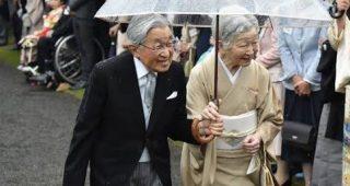 雨の中行われた平成最後の園遊会 天皇陛下のある行動が話題になっている