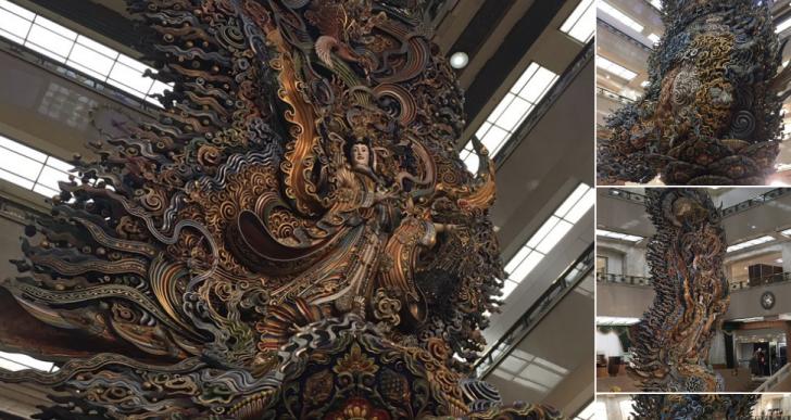 日本橋三越に展示されている天女像 その後ろ姿を見た人が「神業としか思えない」と驚嘆