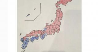 この日本地図あることで日本を分けてます。その答えに驚きを隠せない!