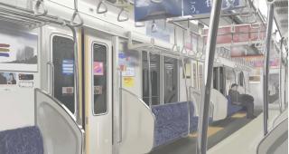 とある高校生「がんばって描きました」←電車にイタズラ描きか? 違う!違うぞ!