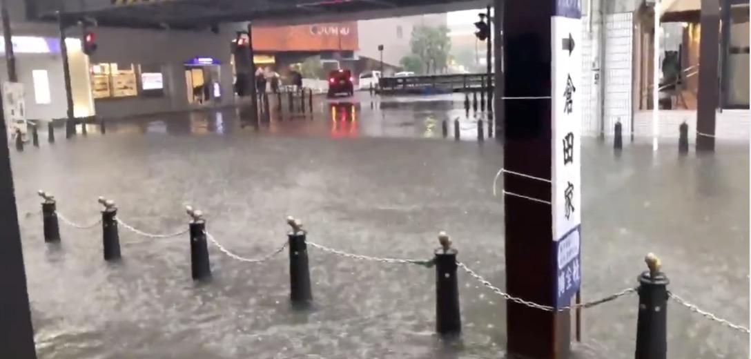 千葉、大雨が大変なことに 各地で冠水。